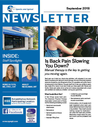 NY sport and spine newsletter